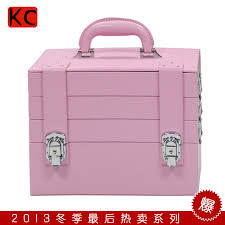 high end european and american professional makeup cosmetics cases large pink vanity case with lock