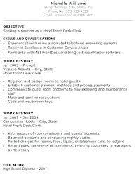 Front Desk Resume Sample Hotel Front Desk Resume Receptionist Resume