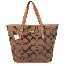 Coach Legacy In Signature Medium Camel Totes ACS