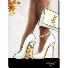 by jodi the higher the heel giclee stretched canvas wall art on shoe wall art high heels with shop by jodi the higher the heel giclee stretched canvas wall art