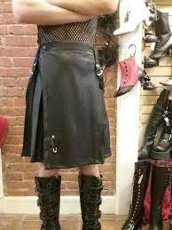 men s kilt black vegan leather