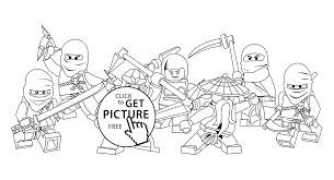 Small Picture Lego Ninjago Coloring Pages Printable With Ninjago Charactersgif