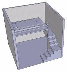 furniture deck. create a bed loft aka furniture deck or mezzanine floor b