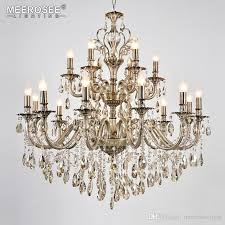 modern luxury crystal chandelier light fixture brass pendant lampara de techo dining room living room lighting md8701 18 lights vintage chandelier luxury