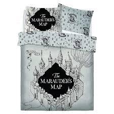 harry potter marauders map double duvet cover polycotton