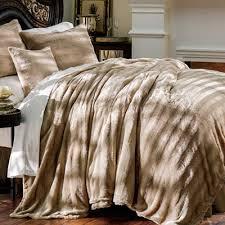 luxury faux fur bedding the paragon