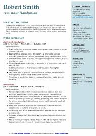 Resume examples for selfemployed person you can make. Handyman Resume Samples Qwikresume