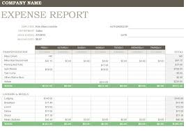 Yearly Expense Report Template Excel Expense Report Forms Free