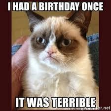 grumpy cat i had a birthday once. Contemporary Cat I Had A Birthday Once It Was Terrible  Tard The Grumpy Cat And Had A Birthday Once H