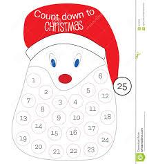 Calendar Countdown Days Countdown Till Christmas Stock Vector Illustration Of Claus 6978720