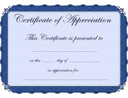 Certificates Appreciation Templates Filename Elsik Blue Cetane