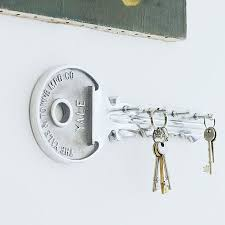 Keep your keys safe with this fun aluminium key hook. Never before have we  found such a clever key rack as this one. A key for your keys