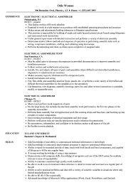 Assembler Resume Samples Electrical Assembler Resume Samples Velvet Jobs 19