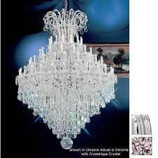 classic lighting 84 light maria theresa chrome crystal chandelier