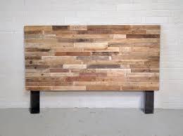 recycled pallet wood headboard or bed custom reclaimed king