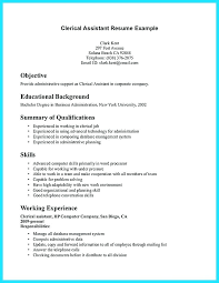 Sample Resume For Clerical Position Sample Resume For Clerical