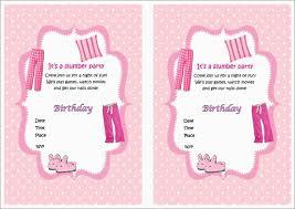 Free Printable Slumber Party Invitation Templates Mult