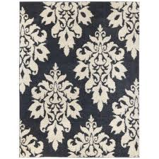 home decorators collection meadow damask blue 4 ft x 6 ft area rug 8024e the home depot
