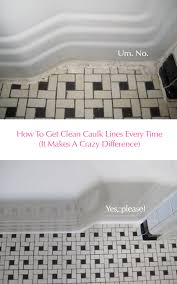 Cleaning Bathroom Tile Adorable Clean Vintage Bathroom Tiles Caulk More Cleanly With Painter's Tape