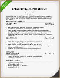 Babysitter Resume Template Cool Nanny Resumes Examples Babysitter Resume Sample Template