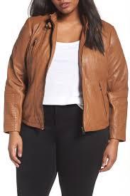 Bernardo Leather Moto Jacket Plus Size Nordstrom Rack