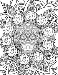 Small Picture Halloween Skull this free adult coloring page is perfect for
