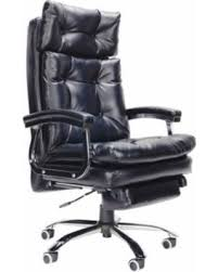 office reclining chair. Perfect Reclining COZ Deluxe Reclining Swivel Office Chair With Footrest PU Leather Sturdy  Casters  Inside