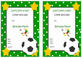 Football Party Invitations Templates Free Print Birthday Invite Under Fontanacountryinn Com