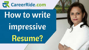 impressive resume. How to write an impressive Resume Resume Format for Freshers and