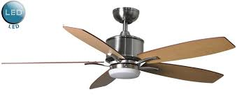 prima 52 remote control ceiling fan led light brushed nickel