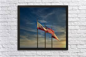 american flags at sunset darryl brooks