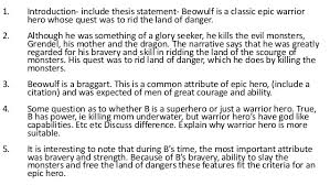 beowulf essay epic hero beowulf as an epic hero essay essays phdessay com