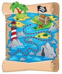 children s treasure map wall mural