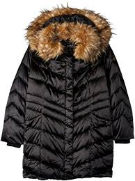 Steve Madden Womens Plus Size Down Filled Puffer Coat With