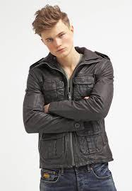 men jackets superdry new brad hero leather jacket brown superdry coats