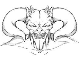 Small Picture Scary coloring pages devil face ColoringStar