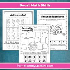 Mommy Maestra: Bilingual Easter-Themed Activity Pages for Preschool