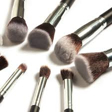 10 pcs professional make up brushes set make up brush kit free draw string makeup bag clic matte black in makeup scissors from beauty health on