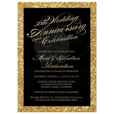 50th Anniversary Party Invitations 50th Wedding Anniversary Party Invitations Gold Sparkle