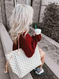 louis vuitton neverfull white. blondie in the city | @hayleylarue instagram la fashion blogger. editorfashion bloggersfashion vintagewhite louis vuitton neverfull white