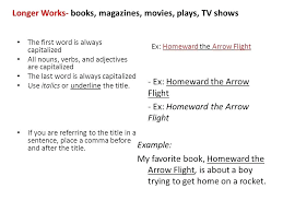 How To Write Book Titles Longer Works Books Magazines Movies Plays
