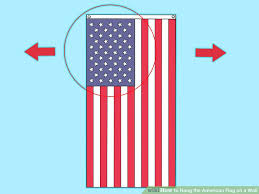 image titled hang the american flag on a wall step 1