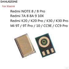 10 adet/grup Xiaomi Redmi için not 8 Pro K20 K30 9T / Redmi 7A 8A 9 10X / Mi  10 CC9E / CC9 Pro mikrofon verici Mic hoparlör Mobile Phone Flex Cables