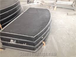granite curved fireplace hearth slab shanxi black granite fireplace hearth