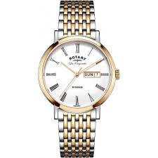 gb90155 01 rotary mens les originales windsor two tone rose gold rotary gb90155 01 mens les originales windsor two tone rose gold plated watch
