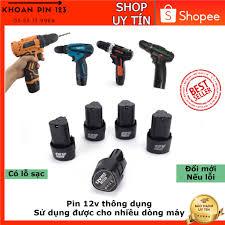 Pin 12v pin máy khoan 12v dùng cho máy khoan bắt vít cầm tay, hàng chuẩn -  Pin và dụng cụ sạc pin