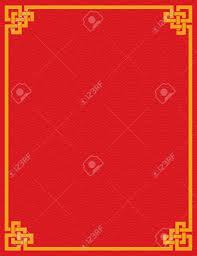 traditional asian red and gold wave pattern design book cover or flier with e for text