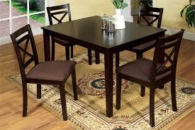 four chairs in dining room. weston i espresso dining table and chairs four in room n