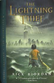 the lightning thief book cover percy jackson and the olympians