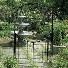 arbor garden. Savannah Steel Arbor With Gate Garden